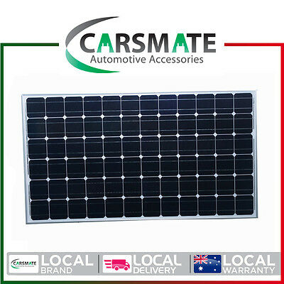 New 200W 12V Solar Panel Home Generator Caravan Camping Power Charging Mono