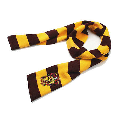 Harry Potter Cosplay Costume Scarf Boys Girls Knit Warm Striped Scarves Wrap Hot