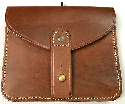 Wwi French M1915 Lebel Rifle Leather Ammo Pouch-Brown