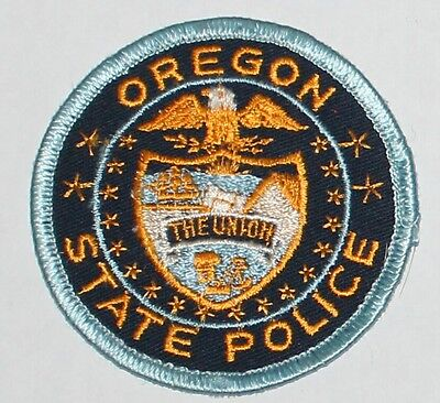 OREGON STATE POLICE OSP OR Troopers Highway Patrol Used Worn patch #5