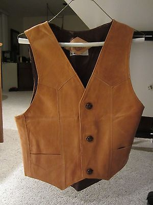 Vintage Western Tan Men's Vest made in Mexico size 38-40
