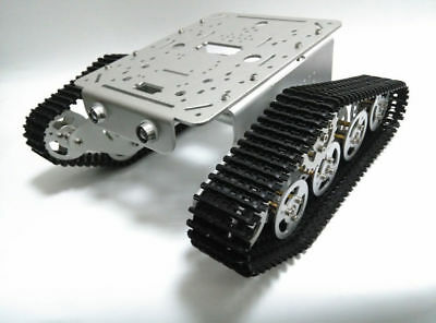 DIY T300 TANK Chassis Metal Tracked Crawler Robotic smart car YN