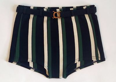 "1950's Vintage Men's Swim Trunks by McGREGOR~28""-38"" waist, Striped, Nylon~RETRO"