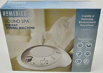 HoMedics Sound Spa Relax Machine White Noise Nature Peace Therapy Sleep Night