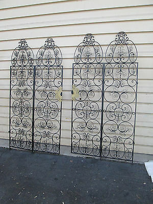 56515     4 Section Iron Decorator Screen w/  2 door Gate