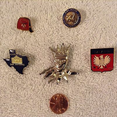 LOT of 5 Different Lapel Pins Masonic/Shriner/Other