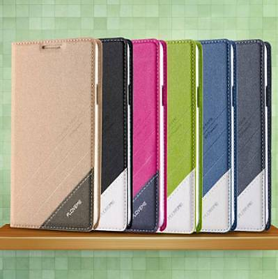 Floveme Leather Flip Wallet Case Stand Cover for iPhone Samsung Galaxy Phones