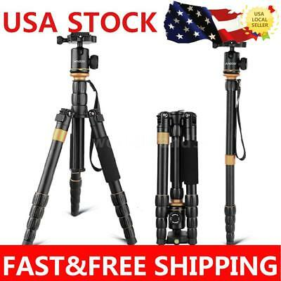 Andoer Professional Tripod Monopod Stand with Ball Head for DV DSLR Cameras P5G8