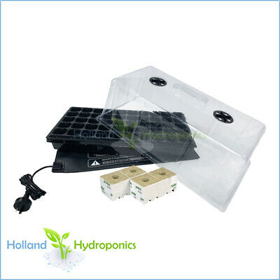 PROPAGATION CLONING KIT ​Seedling Water & Cell Tray/Dome/Heat Mat & Cubes