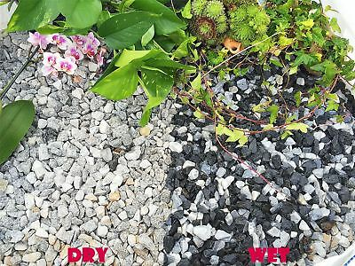 20mm Black Ice White Marble Gravel Chippings Top Dressing Pathway Border 1-30kg