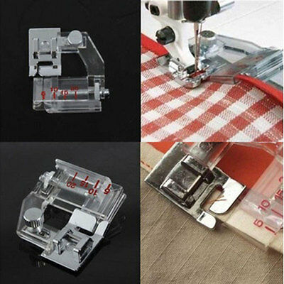 Transparent Adjustable Rolled Hem Foot For Brother Janome Singer Sewing Machine