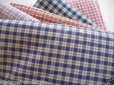 "Antique French Linen ""kelsch"" Hand Loomed Linen Lavender Blue Check"