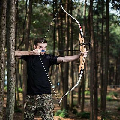 IRQ Archery 35Lbs Takedown Recurve Bow RH Wooden Riser Hunting Target Practice