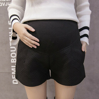 Pregnant Woman Winter Warm Shorts Maternity Casual Belly Pants Trousers Leggings