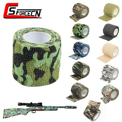 Tactical Hunting Camping Bionic Gun Wrap Camo Stealth Waterproof Camouflage Tape