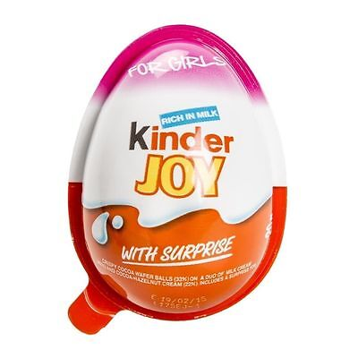 12 X Ferrero * Girls * - Chocolate Kinder Joy Surprise Egg Giift Inside Kids