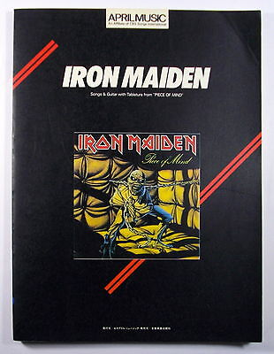 "Iron Maiden ""piece Of Mind"" Guitar Score Japan Tab"