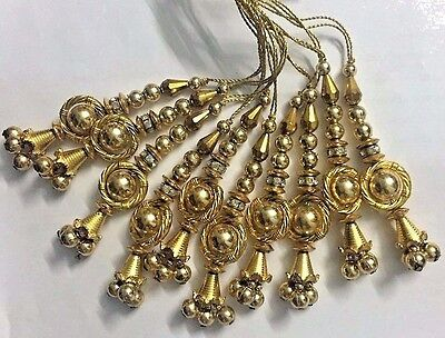10 PC Ancient-Golden Colored Christmas Tree Ornament Decoration Hangings