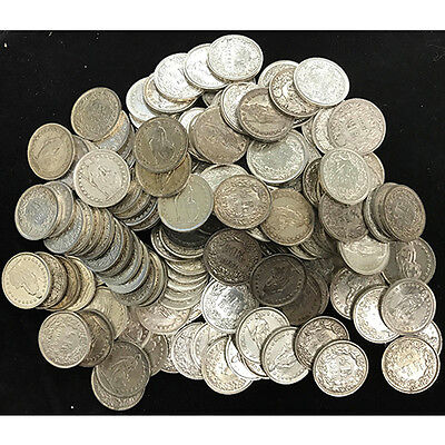 150 x Switzerland 1/2 Francs .835 Ag Silver Circ Coins Bundle – Various Years...