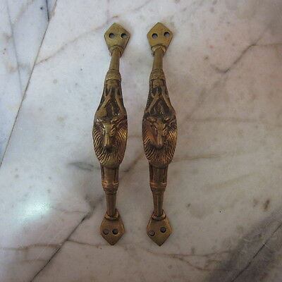 Brass Cupboard Puller Vintage Gate Guardians Antique Door wardrobe Handles Knob