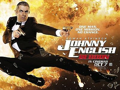 """Johnny English Reborn 16"""" x 12"""" Reproduction Movie Poster Photograph"""