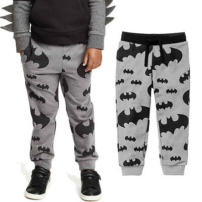 Cotton Toddler Baby Boys Kids Batman Printed Pants Casual Trousers 2-7Y Clothes