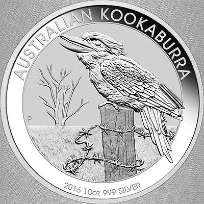 2016 Silver 10 oz Kookaburra Bullion Coin