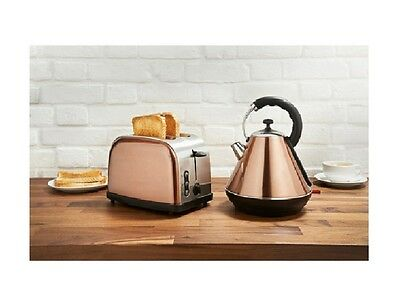 Copper Kettle & Toaster Breakfast Set with box