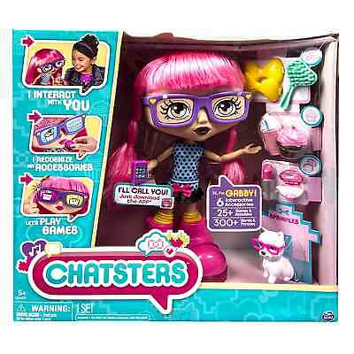 NEW Chatsters - Gabby Interactive Talking Doll with 6 Interactive Accessories