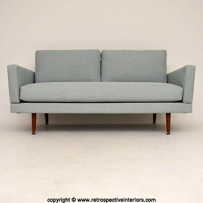 Retro Newly Upholstered Sofa Bed Vintage 1950's