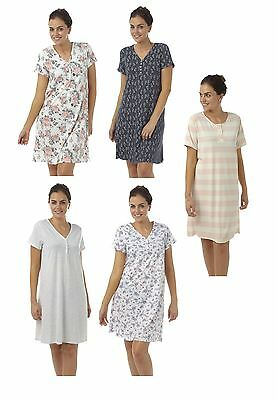 ladies cotton Nightdress nightie Nightwear Plus Size 22 24 26 28 30 32
