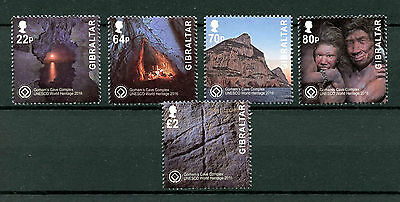 Gibraltar 2016 MNH UNESCO Gorhams Cave Complex 5v Set Mountains Tourism Stamps
