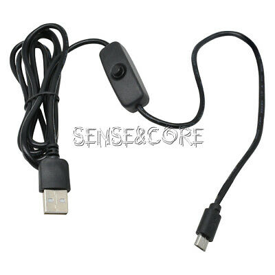 Micro USB Power Supply Charging Cable With ON/OFF Switch 1.5m For Raspberry Pi