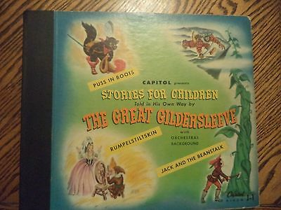1945 STORIES FOR CHILDREN (GREAT GILDERSLEEVE) CAPITOL RECORDS 78 RPM Set