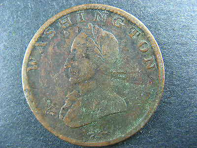 Double Head Washington One Cent US USA copper coin United States of America 1c