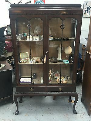 Late Victorian Early Edwardian Display Cabinet  1850's - 1900's Antique
