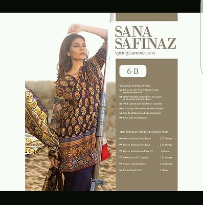 Sana Safinaz original 3pc embroidered stitched suit.BNWT. khaadi gul ahmed