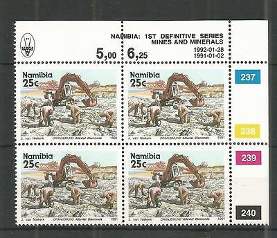 NAMIBIA 1991 25c DEFINITIVE CORNER BLOCK OF 4 SG,558 UN/MM NH LOT 1251A