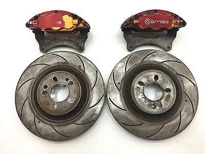 Genuine Brembo 6 Pot Piston Brake Calipers Discs Impreza 5x100 Evo M3 AP Racing