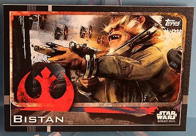 Topps Star Wars Rogue One Karte Nr.16 Bistan