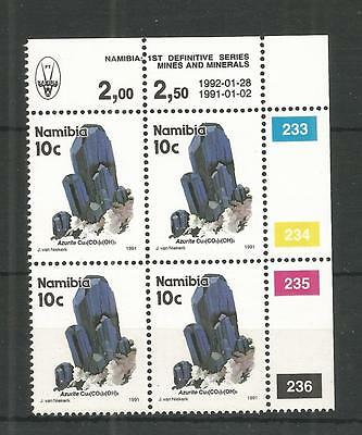 NAMIBIA 1991 10c DEFINITIVE CORNER BLOCK OF 4 SG,556 UN/MM NH LOT 1254A