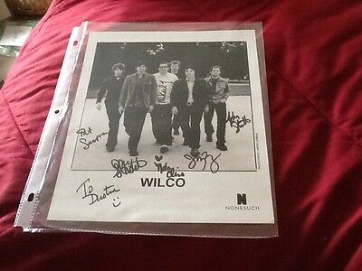 WILCO, ALTERNATIVE AND INDIE ROCK band From Chicago, Autographed  Photo