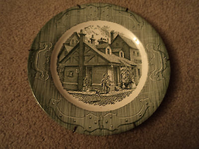 Vintage The Old Curiosity Shop Dinner Plate With Wall Mount