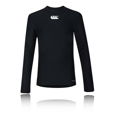 Canterbury Thermoreg Junior Noir Manche Longue Col Rond Baselayer Sport Top