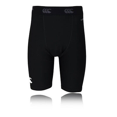 Canterbury Thermoreg Junior Noir Running Short Bermudas Caleçons Gym Course