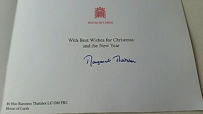 MARGARET THATCHER Signed Christmas Card 2007 Great Britain House of Lords
