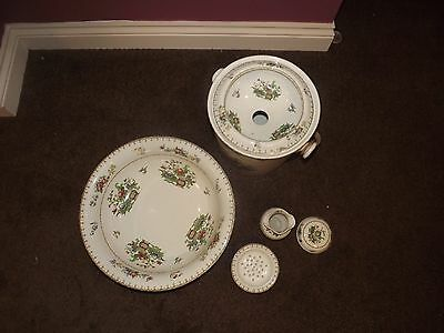 Antique Copeland Pottery Peplow Bedroom Washing Set Bowl And Bucket No Jug
