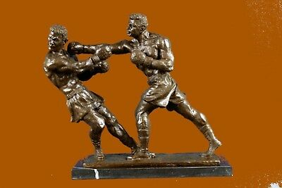 Bronze Sculpture Muhammad Ali And Sonny Liston Second R Statue Figurine EX