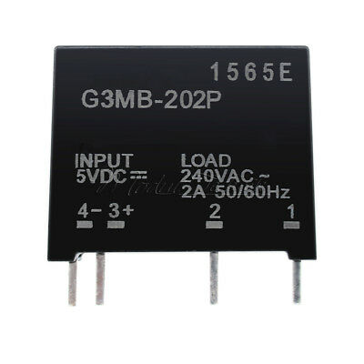 G3MB-202P DC-AC PCB SSR In 5V DC Out 240V AC 2A Solid State Relay Modul New