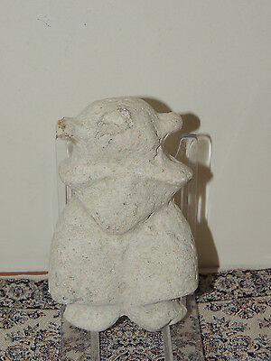 Antique  Stone Figure statuette,mother godess,fertility,humanoid,idol,alien